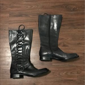 Born tall leather boots shoes size 11